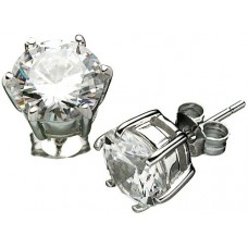 18K G-Plated Sterling Silver 1ct CZ Earrings